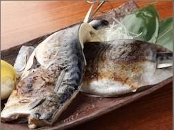 塩鯖串焼・鯖のみりん漬串焼 ¥590・¥590
